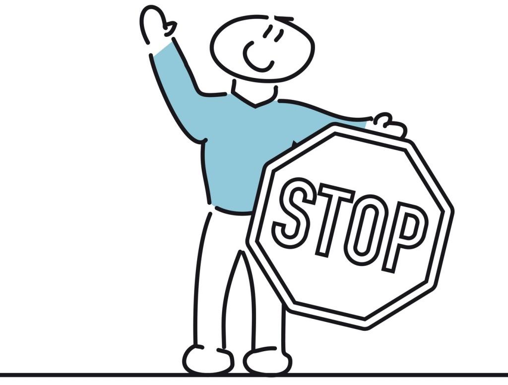 Stickman - stop sign
